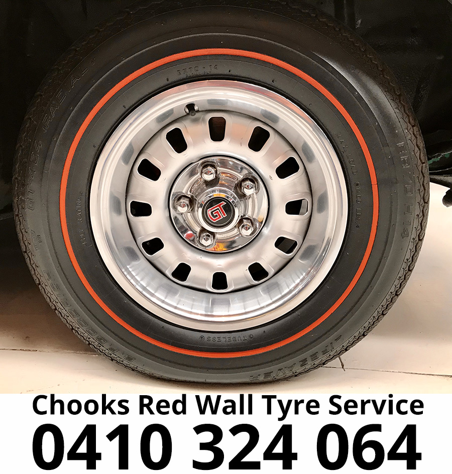 Chooks Red Wall Tyre Service | Partner | Muscle Car Warehouse