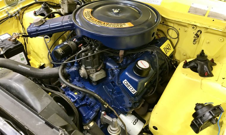 Ford Falcon XB GT Yellow Blaze Engine | Muscle Car Warehouse