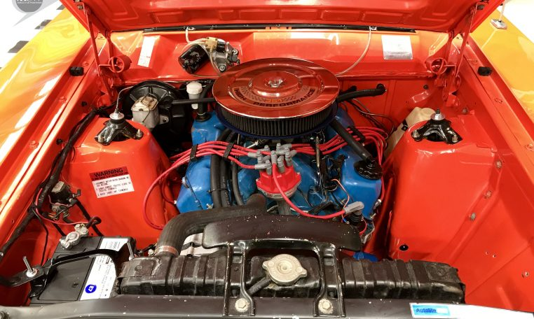 Ford Falcon XW GT Brambles Red Engine   Muscle Car Warehouse