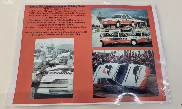 Holden VL Commodore Berlina Certificate | Muscle Car Warehouse