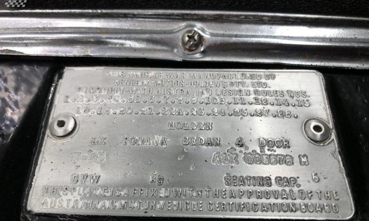 Holden Torana SLR/5000 Replica Number   Muscle Car Warehouse