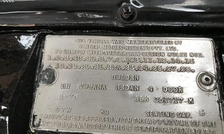 Holden Torana A9X Replica Number | Muscle Car Warehouse